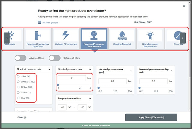 Product Filter Tool