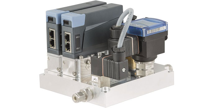 Gas control system with mass flow controllers