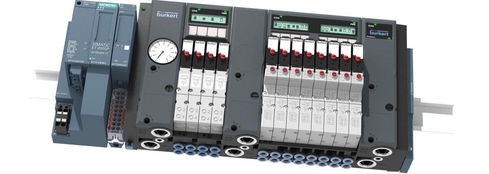 Bürkert Ventilinsel Airline SP Typ 8647 System SIMATIC ET 200SP kompatibel