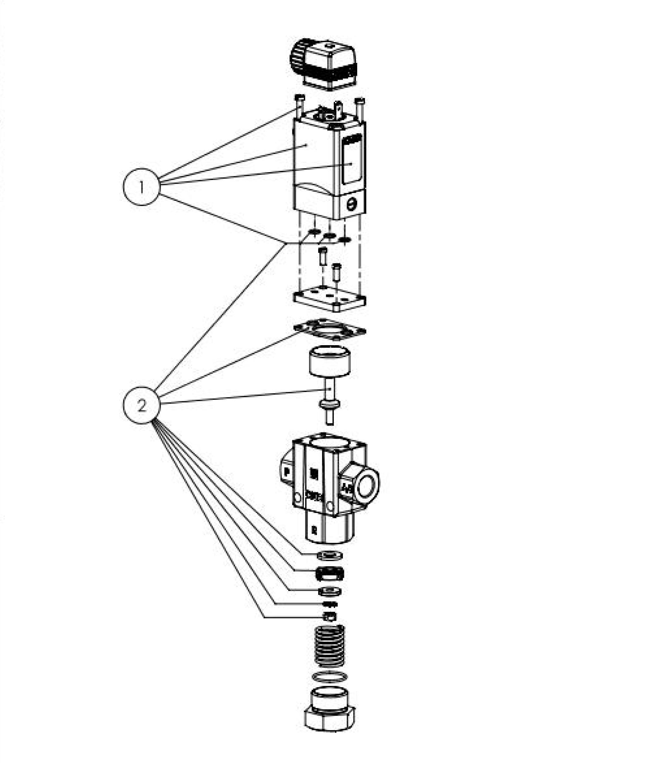 Typ 0343 - Servokolbenventil 3/2 Wege fremdgesteuert
